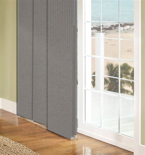 Sliding Panel Track Blinds Patio Doors Comfortex 174 Envision 174 Panel Track Blinds Blackout