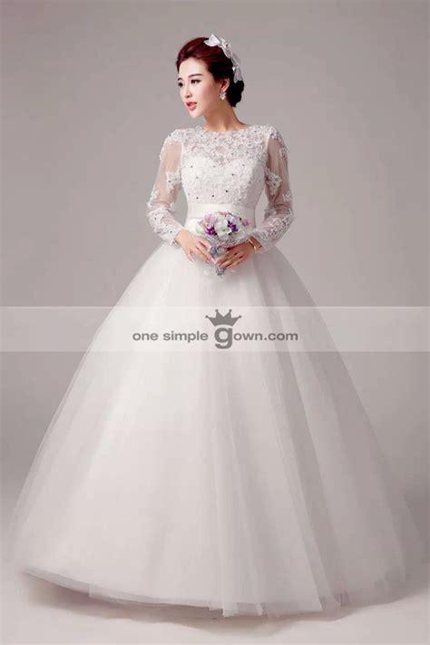 Wedding Gaun by Sleeve With Wrap Gown Wedding Dress Lace Gaun Dress
