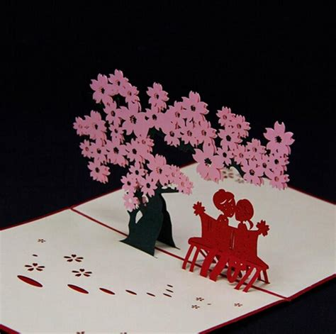 Handmade Pop Up Greeting Cards - amazing handmade greeting cards kirigami 3d pop up card