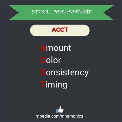 Stool Assessment by Fundamentals In Nursing Mnemonics Rnpedia
