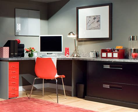 Best Home Office Furniture Orange Home Office Ideas Decosee