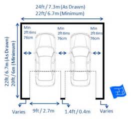 Double Car Garage Dimensions by Garage Dimensions
