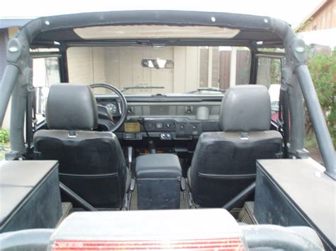 land rover convertible interior 1995 land rover defender 90 2 door convertible 49439