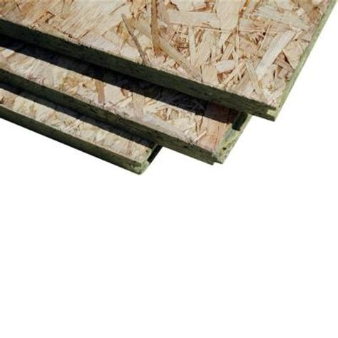 t g oriented strand board common 23 32 in x 4 ft x 8