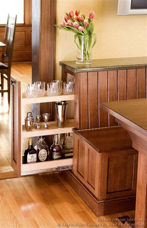breakfast nook cabinets mission style kitchens designs and photos