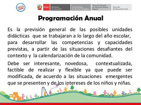 programacion curricular 2016 area comunicacin programacion curricular 2016 de nivel inicial programacion