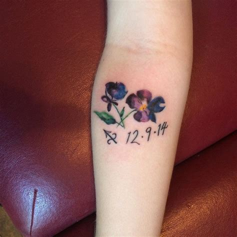 violet flower tattoo violet flower search pinteres