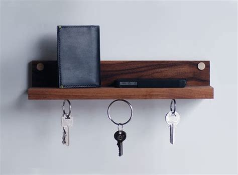 Key Rack With Shelf by Magnetic Key Ring Holder Shelf Accessories Better