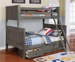 gray bunk beds new colors kidzbedz