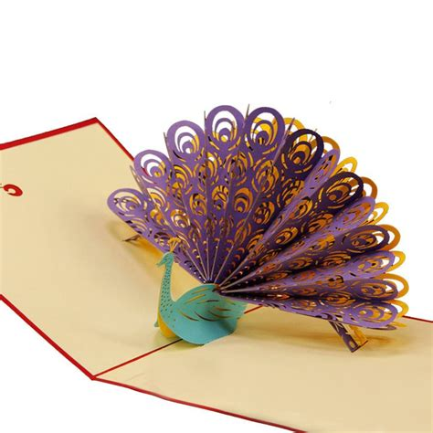 Peacock Pop Up Card Template by Peacock 3d Pop Up Greeting Card Peacock 3d And Origami