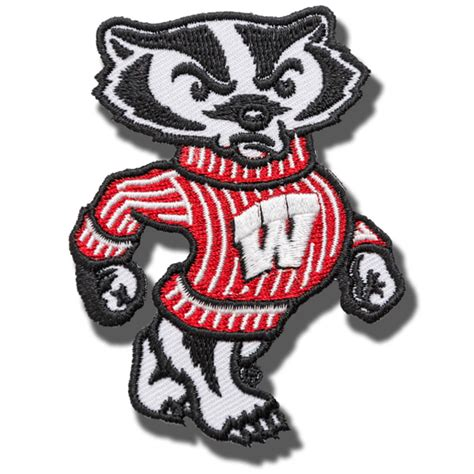 bucky badger sew on patch