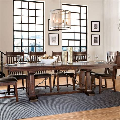 dining room furniture orlando hayden trestle dining table with metal table slides by intercon hudson s furniture dining