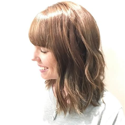 long layered lob hairstyle with bangs 78 ideas about layered lob on pinterest lob hair hair