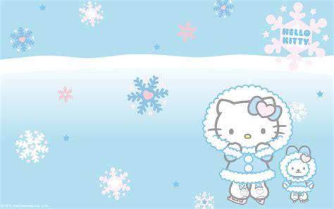 kitty themes for winter snow hello kitty cartoon