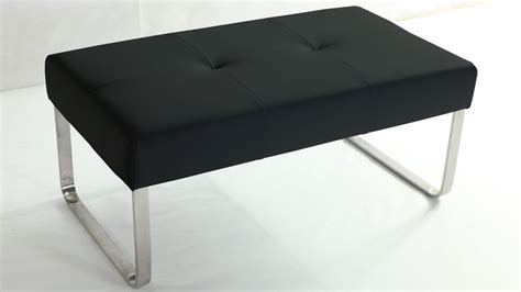 dining bench black trendy black quilted dining bench brushed metal or