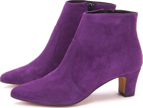 purple suede ankle boots loved and on demand mandarina