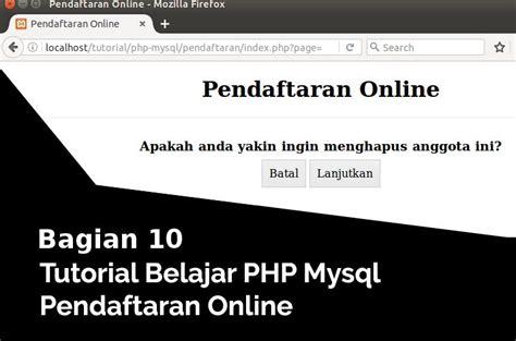 tutorial php online bahasaweb com tutorial bahasa pemrograman web