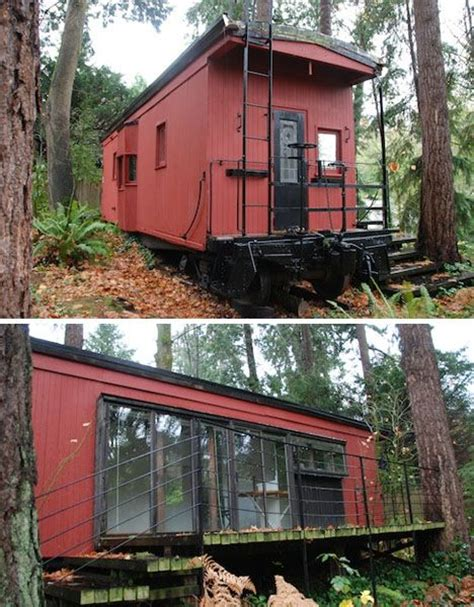 1000 Images About Caboose Houses On Pinterest Boxcar Caboose Tiny House
