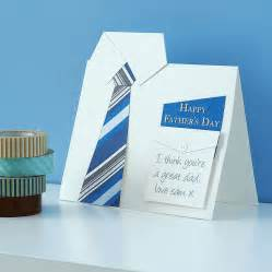 handmade shirt and tie s day card by thoughts of you notonthehighstreet