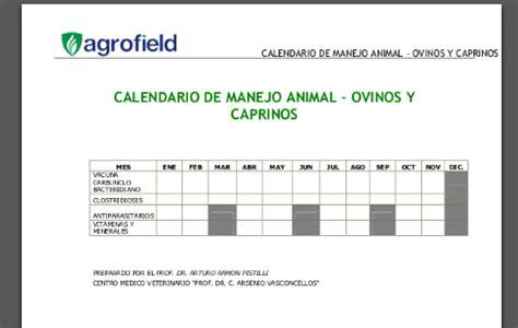 Calendario Animal De Poder Ovinos Y Caprinos En Nicaragua Calendario De Manejo