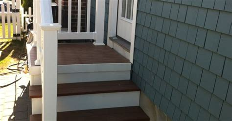 outdoor steps  railing side entrance backdoor backyard