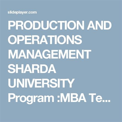Operations Mba Programs by 27 Best Images About Business Operations On 5