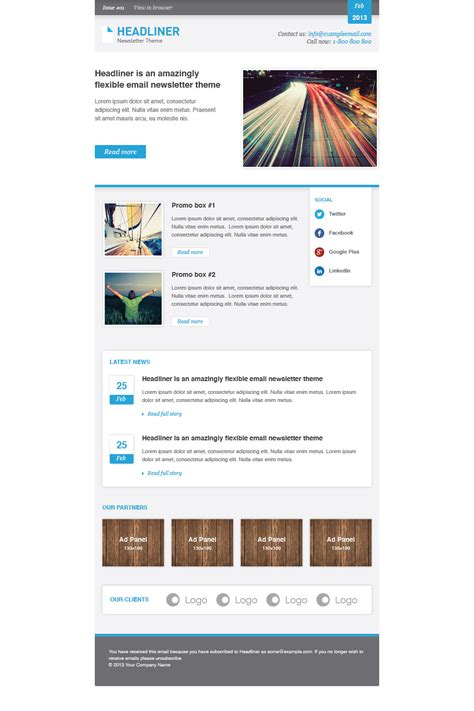 headliner email marketing newsletter template