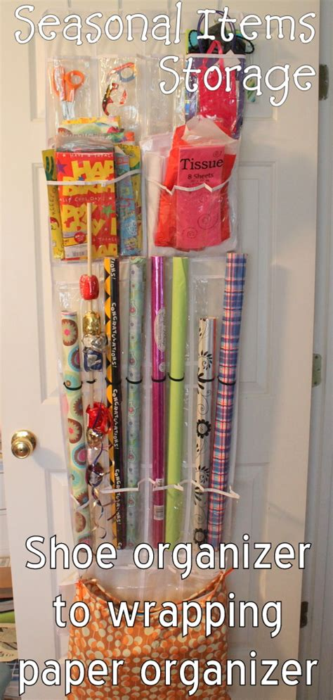 The Door Wrapping Paper Organizer gift wrap storage from an the door shoe organizer