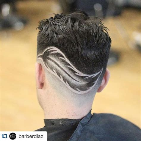 mens hair feathery feather hair design done by nba approved barberdiaz n b