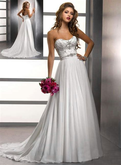 Flowing Wedding Dresses by Beautiful Flowing Wedding Dress With Beading Black And