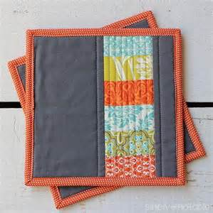 Free Quilted Potholder Pattern by Modern Quilted Potholder Allfreesewing
