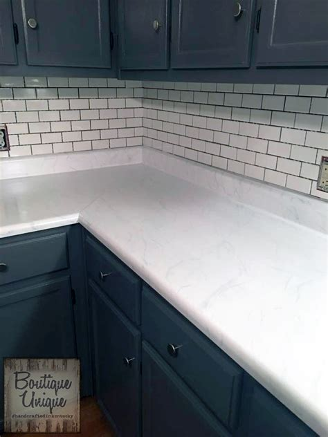 """Carrara Marble"" Countertop with GF Milk Paint   General"