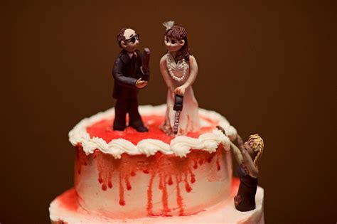 chilling bride and groom wedding cake topper   OneWed.com