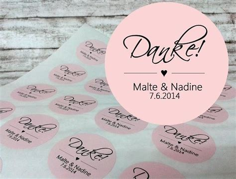 Aufkleber Briefumschlag Hochzeit by 24 Aufkleber Zur Hochzeit Danke Personalisiert