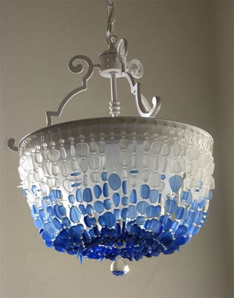 Sea Glass Pendant Lighting Sea Glass Chandelier Lighting Flush Mount Ceiling Light