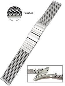 Vollmer Polished Mesh Bracelet 0600SH4 (22mm): Amazon.ca: Watches