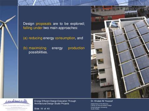 Energy Efficient Design Education Through Architectural Teaching Architectural Design Studio