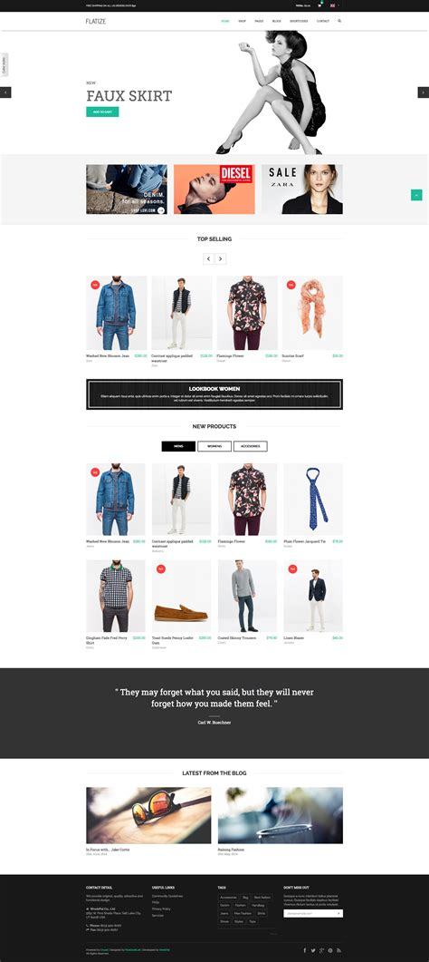 drupal themes online shop flatize shopping ecommerce drupal theme by weebpal