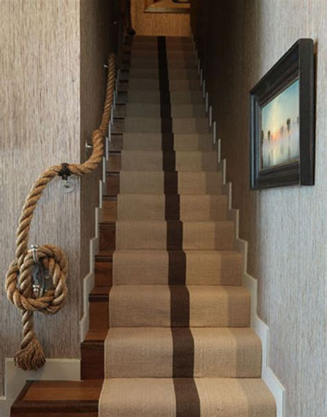 rope banister staircase ideas creative ways to add style