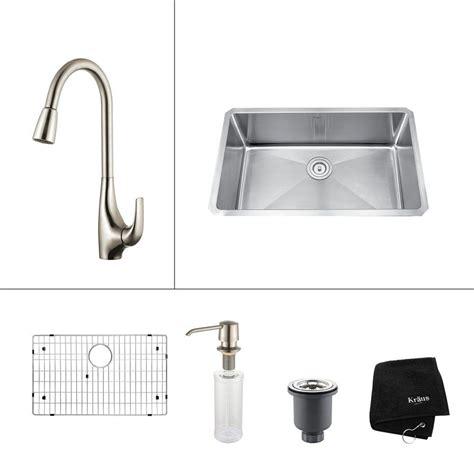 Vigo Undermount Stainless Steel 30 In Single Bowl Kitchen Sink With Grid And Strainer Kraus Sink Templates