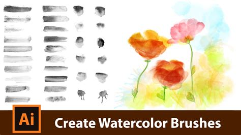 watercolor pattern illustrator download create your own watercolor brushes for adobe illustrator