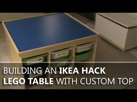 building  ikea hack lego table   custom top youtube