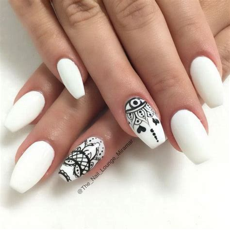 black pattern nails 30 stylish black white nail art designs for creative juice