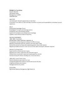 Sle Resume Objectives For Truck Drivers Resume Drivers Sales Driver Lewesmr
