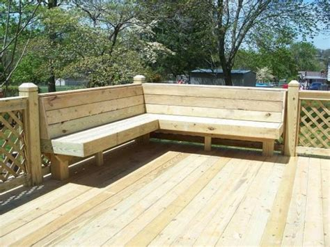 built in patio benches back deck ideabuild in a bench decks interior designs