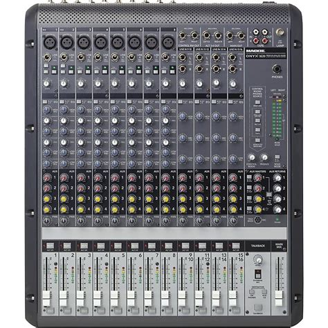 Mixer Mackie 6 Channel mackie onyx 1620 16 channel mixer musician s friend