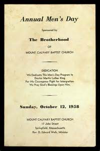 The brotherhood of mount calvary baptist church the martin luther