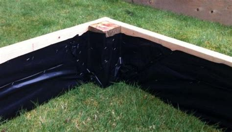 staple plastic sheeting     raised beds