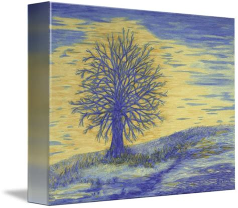 Wall Decor Printed Poster Poster Kayu Oak Tree prints blue wall oak trees modern by baslee troutman prints