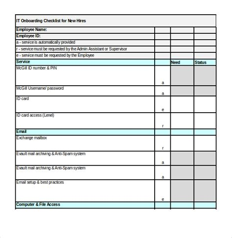 Onboarding Checklist Template 15 Free Word Excel Pdf Documents Download Free Premium New Employee Onboarding Checklist Template